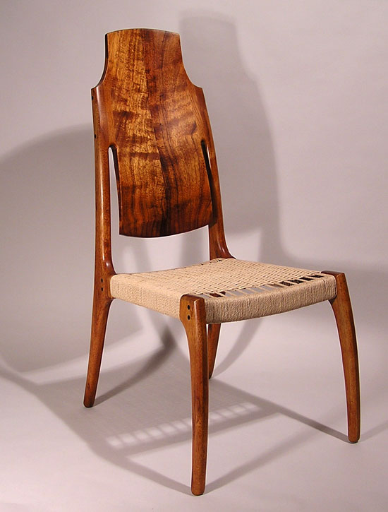 Rick Pohlers Koa Chair