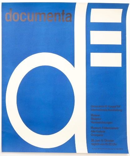documenta III 1964 exhibition poster