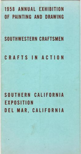 1958 Del Mar Fair Art Exhibitions Brochure