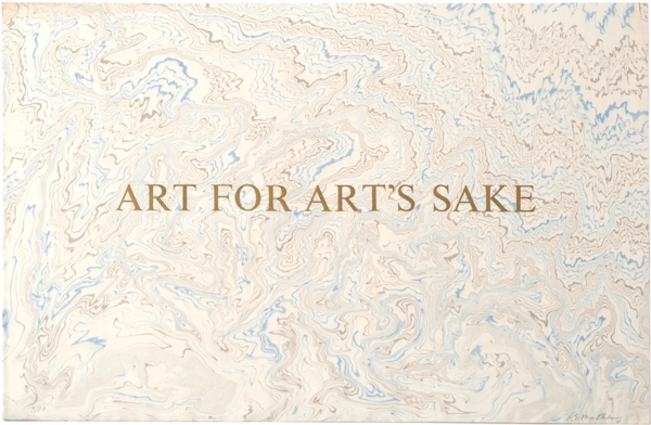 "Bob Matheny Typograph ""Art For Art's Sake"""