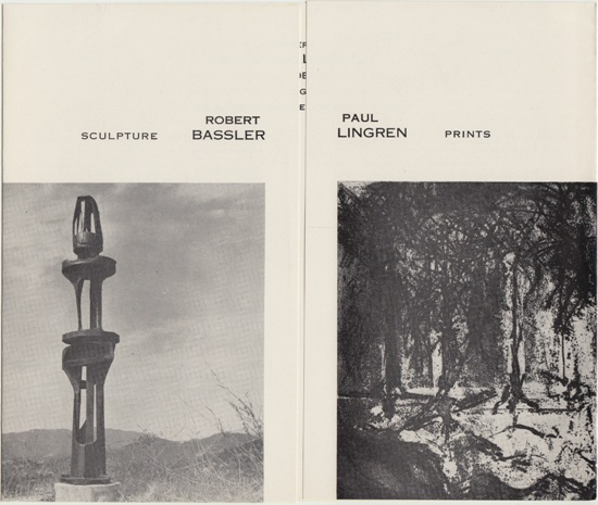 Robert Bassler Paul Lingren Exhibition Catalog