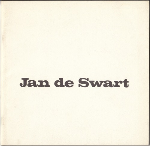 Jan de Swart Exhibition Catalog